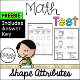 Math Test - Shape Attributes (Label shapes & identify vertices, faces & edges)