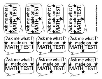 Math Test Stickers