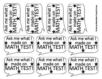 Math Test Stickers