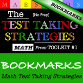 Math Test Taking Strategies - Bookmarks (from Toolkit #1)