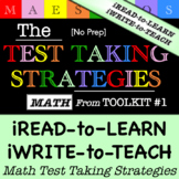 Math Test Taking Strategies - Read and Write (from Toolkit #1)