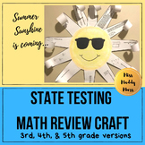 State Testing Math Review- Summer Sun Craft Project
