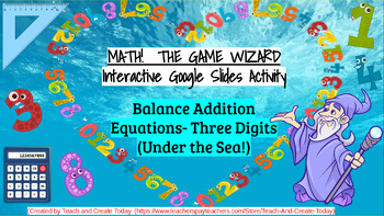 Math-The Game Wizard! 5 Interactive Activities-  3rd Grade ADDITION BUNDLE!