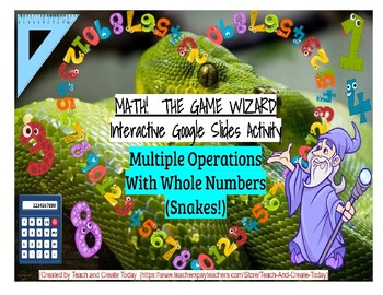 Multiple Operations, Whole Numbers-Math-The Game Wizard! Interactive Activity!