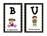 Math Theme B.U.I.L.D. Center Organization Posters