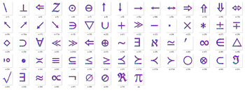 Alphabet Clipart Bulletin Board Letter Set Blue Math