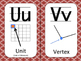 Math Themed Alphabet - Vintage Red