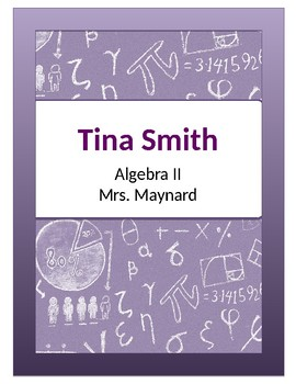 Math Themed Binder Cover