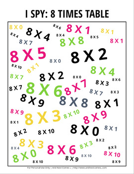 Math Themed I Spy Games Pack