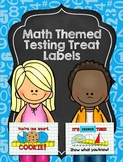 Math Themed Testing Treat Labels