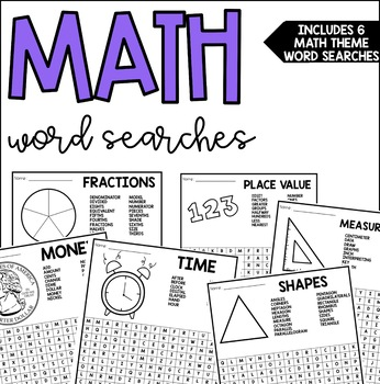 Math Themed Word Searches