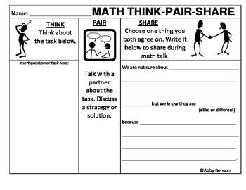 Math Think-Pair-(rehearse)-Share