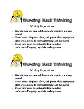 Math Thinking Criteria