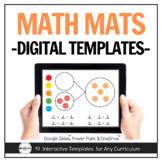 Math Thinking Mats for Distance Learning - Math Manipulatives