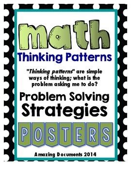 Math Thinking Patterns Posters - FREE