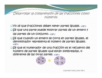 Math Third Grade Common Core (Spanish) preview