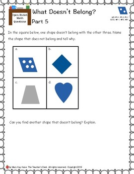 Math Thoughts and Talks: What Doesn't Belong?