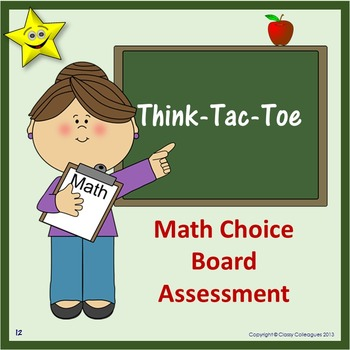 Math Choice Board Assessment
