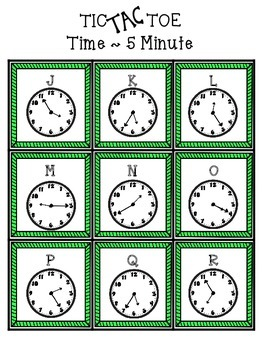 Time Tic Tac Toe ~ 7 Games..Elapsed, minute, starting time and more!!