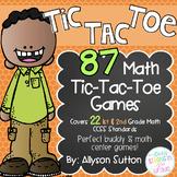 Math Tic Tac Toe - 87 Center Games 1st & 2nd Grade CCSS Aligned