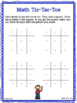 Math Tic Tac Toe Addition Facts