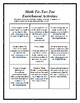 Math Tic-Tac-Toe Enrichment Activities