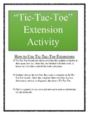 Math Tic-Tac-Toe Enrichment Activities