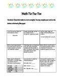 Math Tic-Tac-Toe Menu