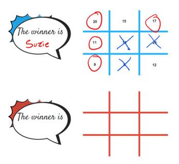 Math Tic Tac Toe | editable PDF
