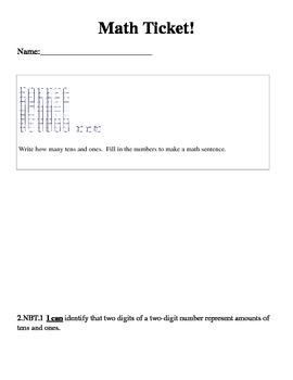 Math Ticket 2.NBT.1