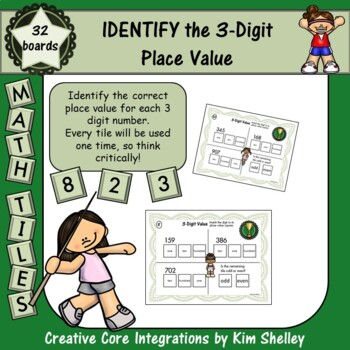 Math Tile 3 Digit IDENTIFY the Place Value Game