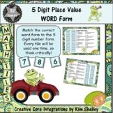 Math Tile 5 Digit WORD FORM Game