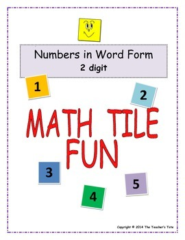 Numbers In Word Form - Math Tile Fun (Set 1)