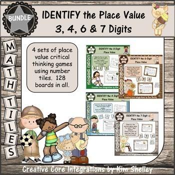 Math Tile IDENTIFY the Place Value BUNDLE