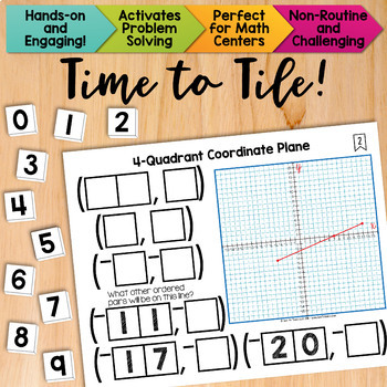 Math Tiles: 4-Quadrant Coordinate Plane | Math Centers