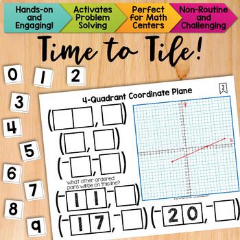 Math Tiles: 4-Quadrant Coordinate Plane | Math Centers