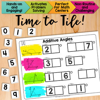 Math Tiles: Additive Angles | Math Centers