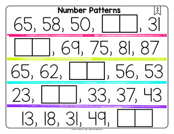 Math Tiles: Analyze Number Patterns  Math Centers