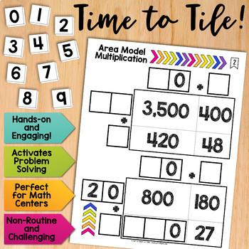 math tiles area model multiplication math centers by got to teach. Black Bedroom Furniture Sets. Home Design Ideas