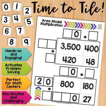 Math Tiles: Area Model Multiplication | Math Centers