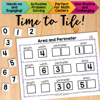Math Tiles: Area and Perimeter Math Centers