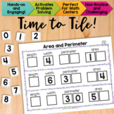 Math Tiles: Area and Perimeter Math Centers