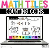 Digital Math Tiles: Counting Coins Boom Cards™