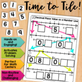 Math Tiles: Decimal Place Value on a Number Line | Math Centers