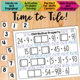 Math Tiles: Distributive Property  Math Centers