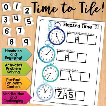 Math Tiles: Elapsed Time  Math Centers