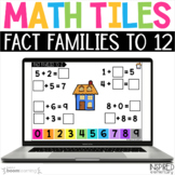 Digital Math Tiles: Fact Families to 12 Boom Cards™ {Addit