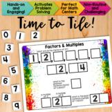 Math Tiles: Factors and Multiples  Math Centers