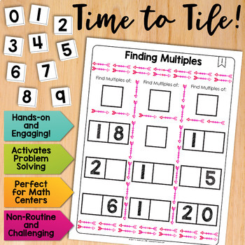Math Tiles: Finding Multiples | Math Centers