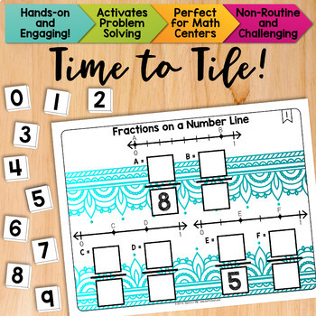 Math Tiles: Fractions on a Number Line  Math Centers